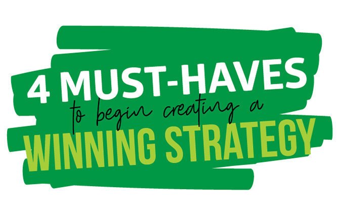 4 Must-Haves To Begin Creating A Winning Marketing Strategy...TODAY